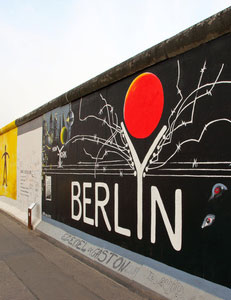 Die East Side Gallery in Berlin